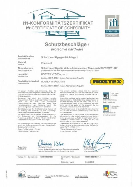 Sicherheitsbeschl ge rostex zertifiziert durch die for Fenster sicherheitsbeschlage