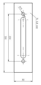 Plech ochranný pod Bezpečnostní kování š=80 mm
