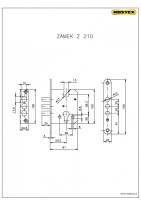 Einsteckschloss Z210 (Sicherheitsbeschlag R3)